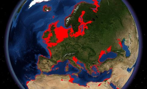 European Continental Shelf  20,000 years agoSource: SPLASHCOS