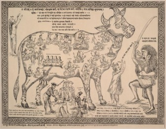 Illustration of the Hindu belief that each part of the cow embodies a particular deitySource: WikiCommons